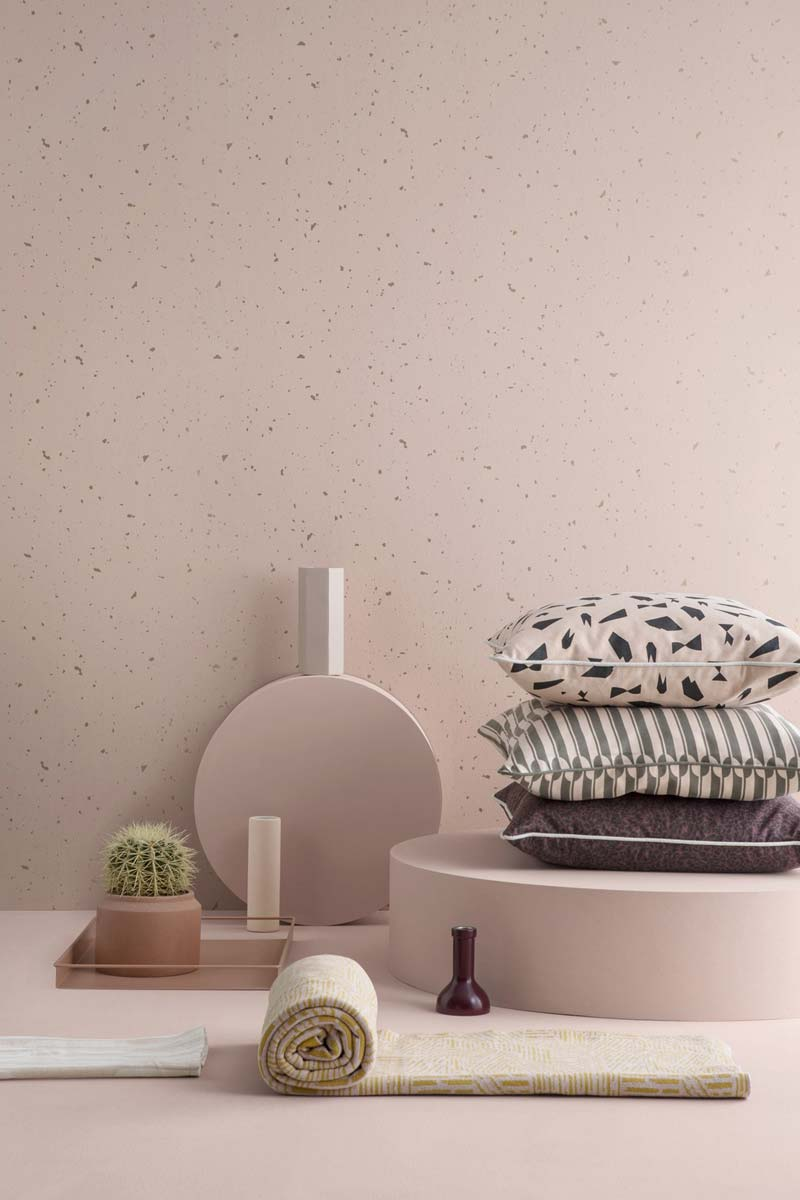 ferm living confetti behang roze