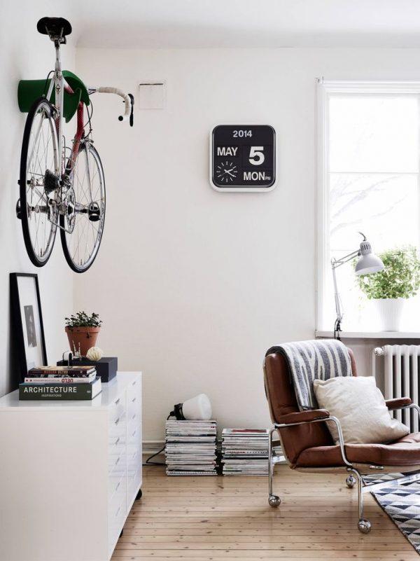 fiets scandinavisch interieur