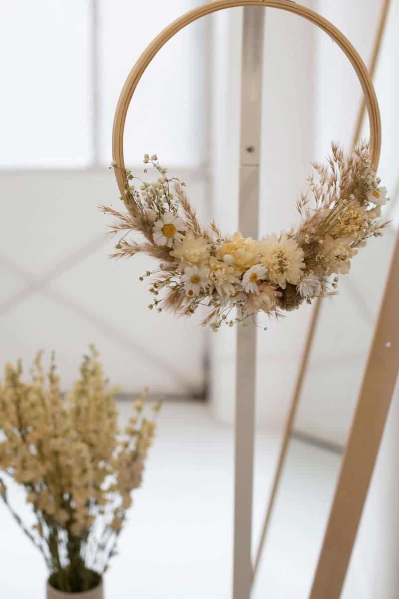 gedroogde bloemen krans