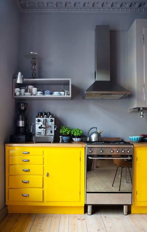 Geel in de keuken   thestylebox