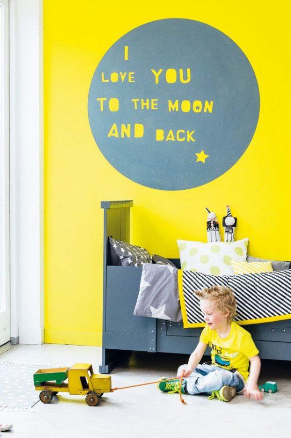 geel kinderkamer