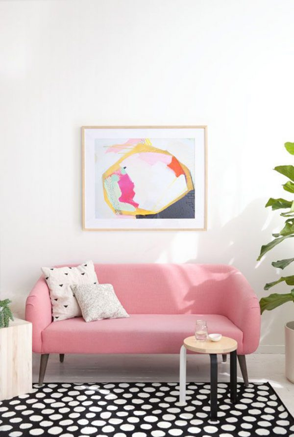 Gekleurde bank woonkamer - THESTYLEBOX