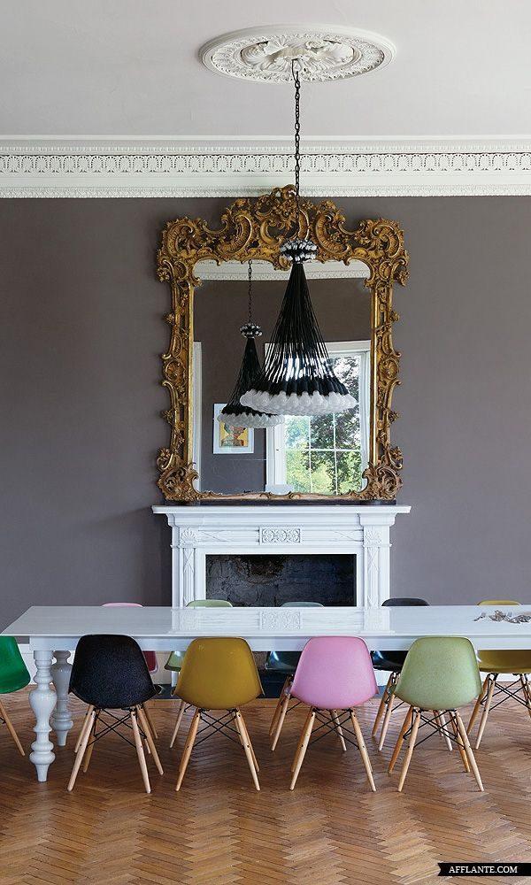 gekleurde eetkamer stoelen keuken