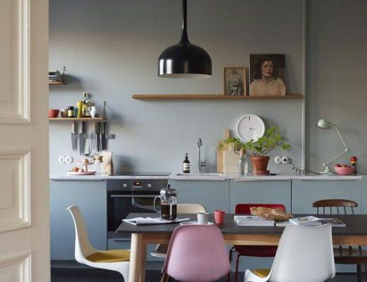gekleurde-eetkamerstoelen-keuken