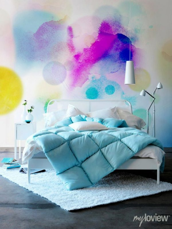 gekleurde muur