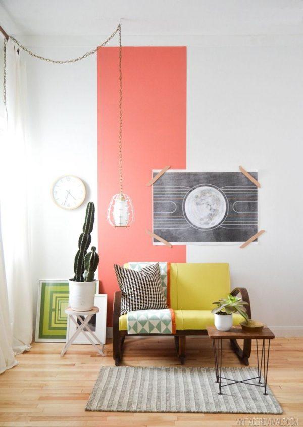 gekleurde strook muur