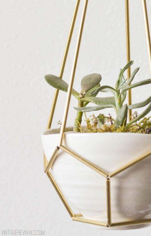 geometrische plantenhanger