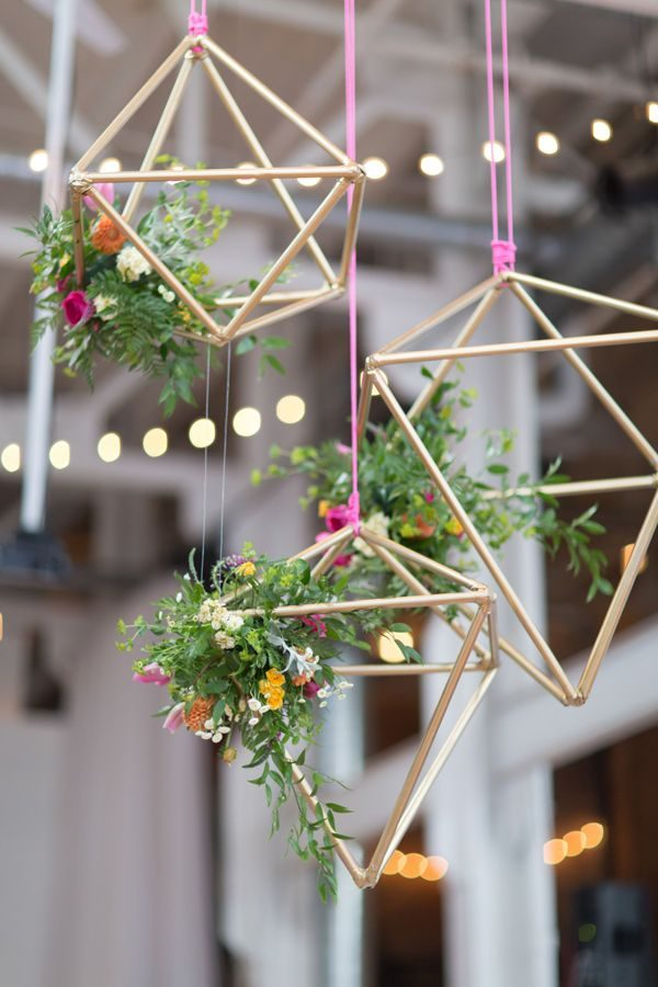 geometrische stalen plantenhangers