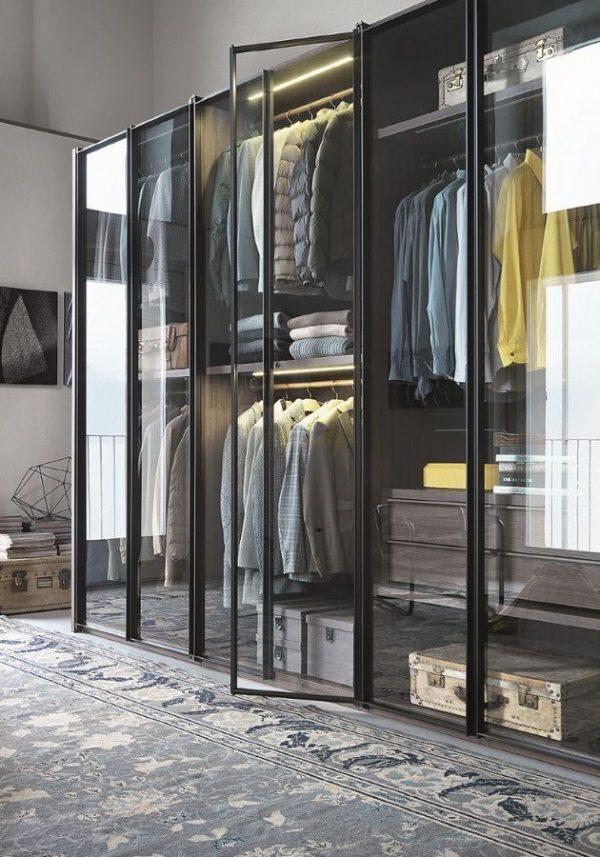 glazen kledingkast industrieel