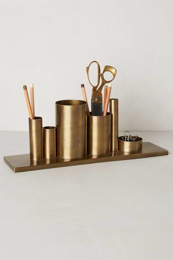 gouden bureau accessoires