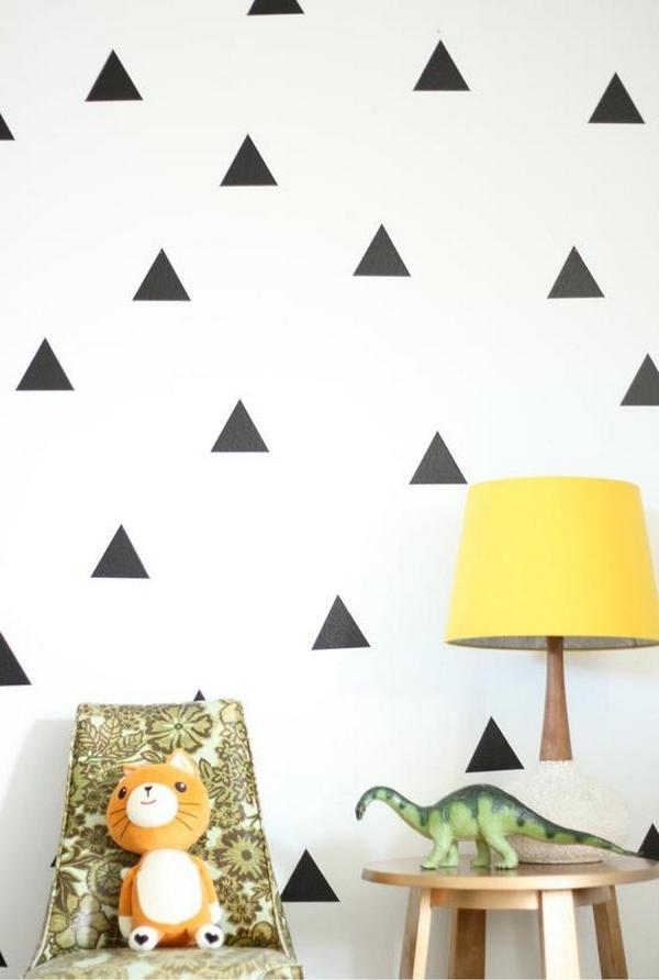 grafische vormen muur