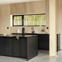 graniet keukenwerkblad zwarte keuken