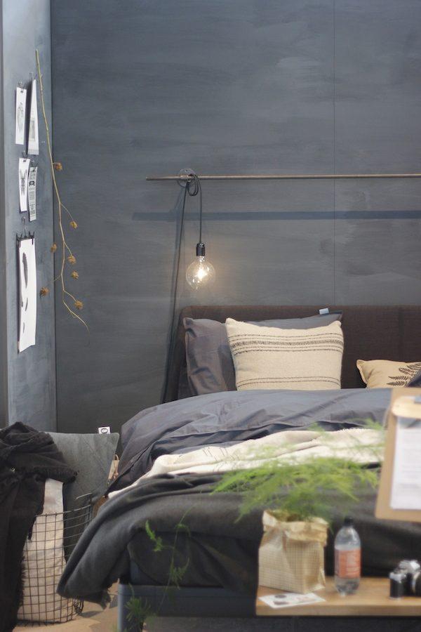 grijze muur slaapkamer
