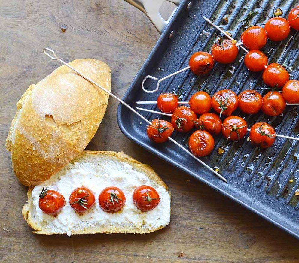 grillpan tomaatjes