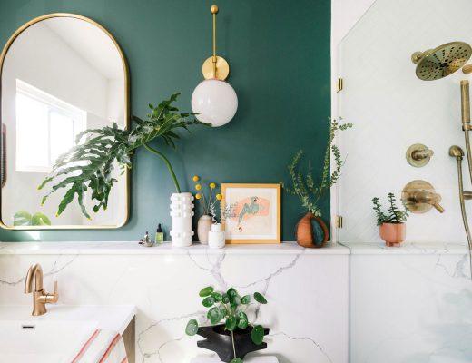 groene muur badkamer