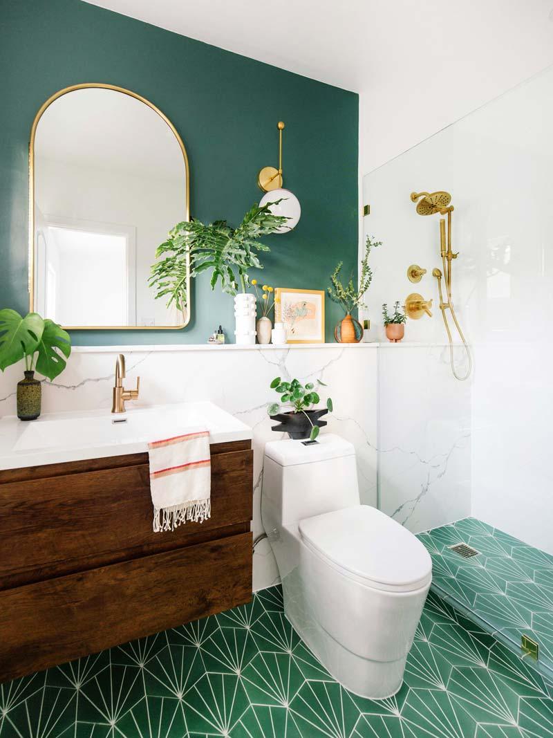 groene muur badkamer flexa classic car muurverf