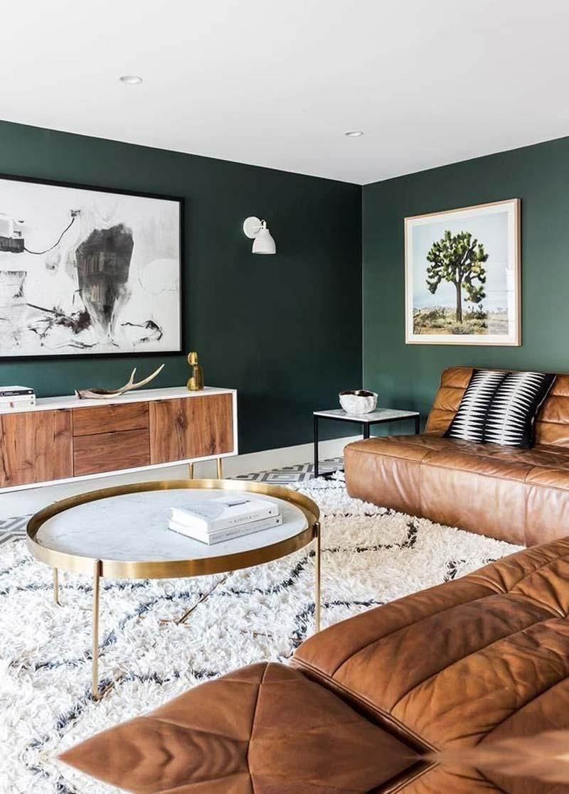 groene muur flexa woudgroen verf