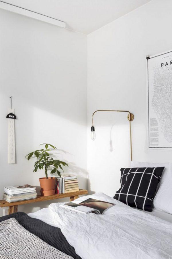 groene plant slaapkamer