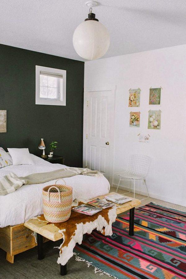 Slaapkamer Kleur Groen : Groene slaapkamer thestylebox