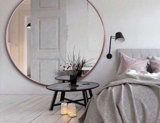 grote ronde spiegel slaapkamer