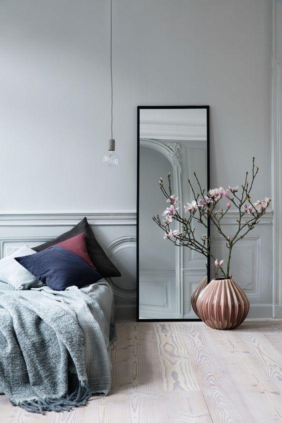 grote zwarte spiegel slaapkamer