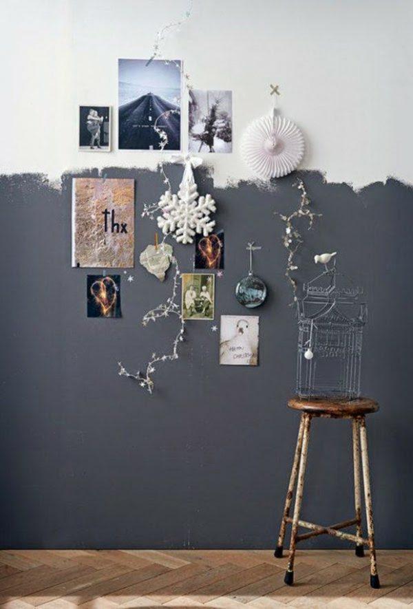 half geschilderde muur