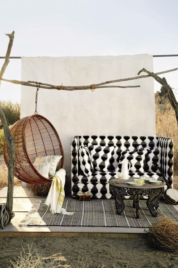 hangende stoel balkon tuin