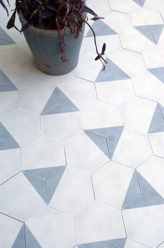 Hexagon tegels zijn altijd een goed idee!