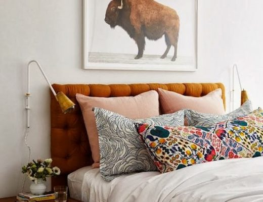 Donkerblauwe slaapkamer thestylebox for Slaapkamer bed