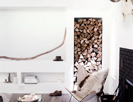 hout blokken interieur