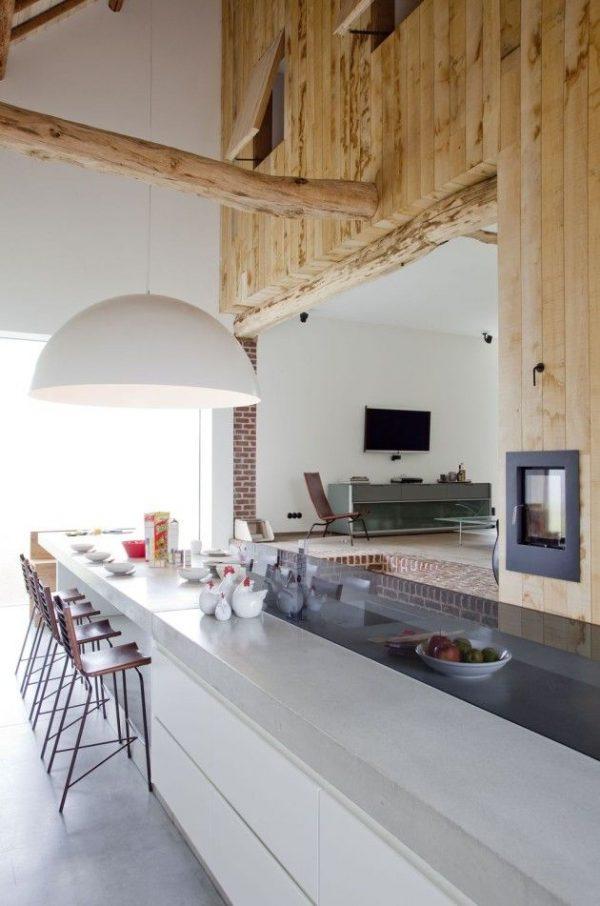 hout in keuken