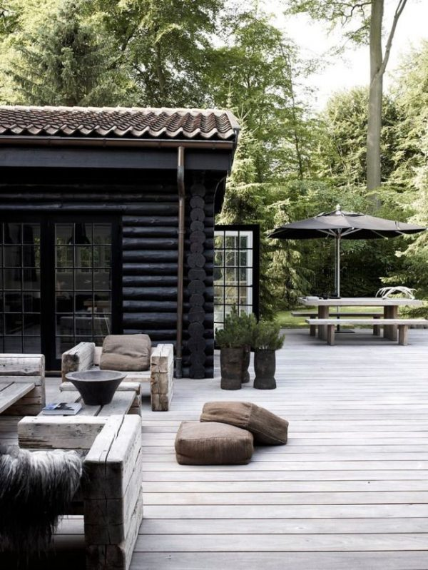 hout tuin