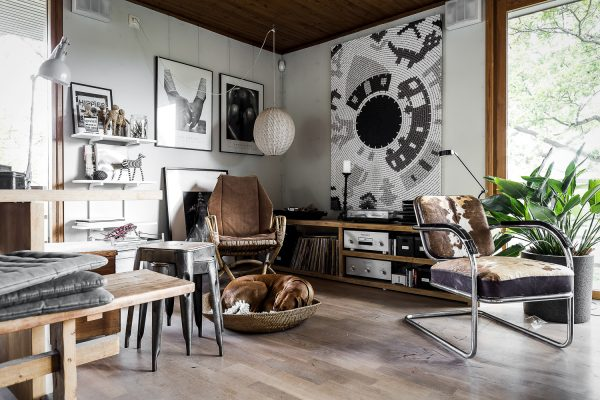 hout woonkamer