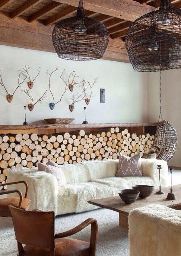 houtblokken interieur