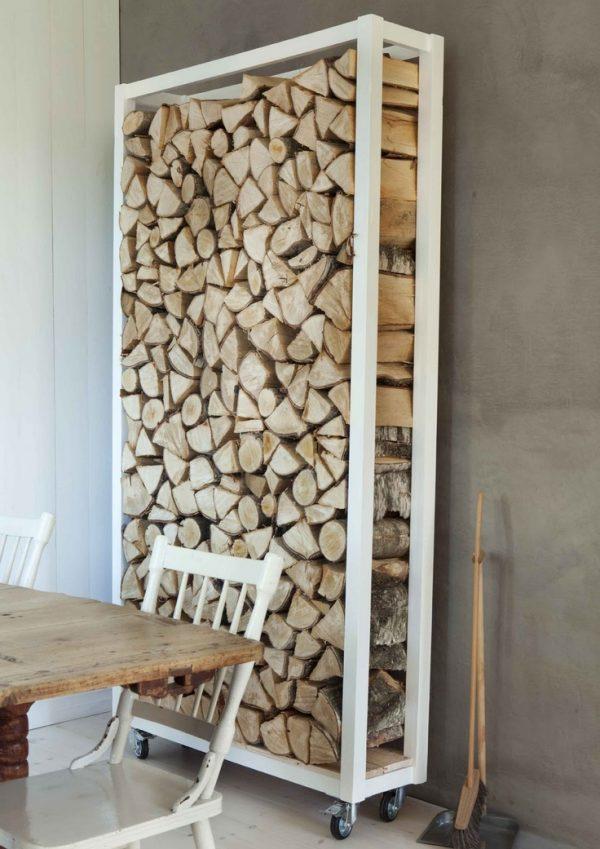 houtblokken opbergen