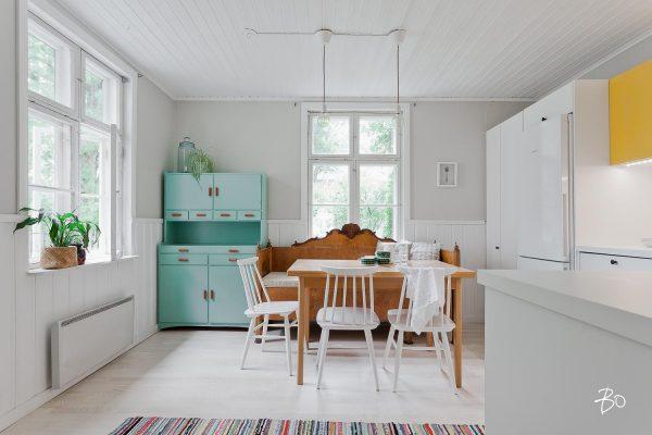 houten bank keuken