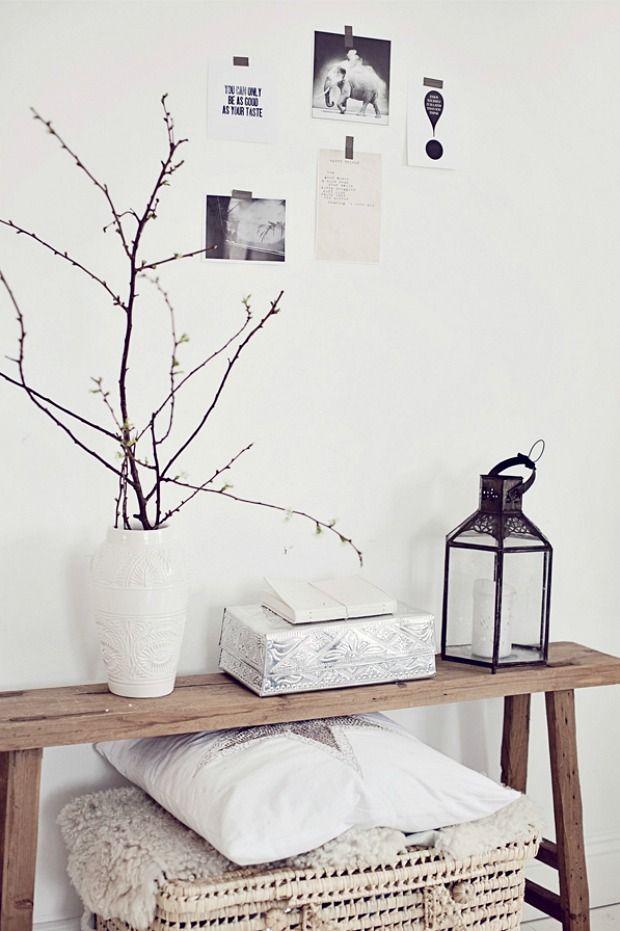 houten bankje decoratie