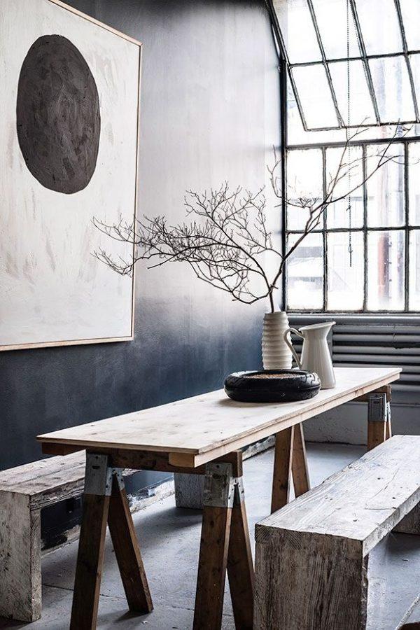houten bankje keukentafel