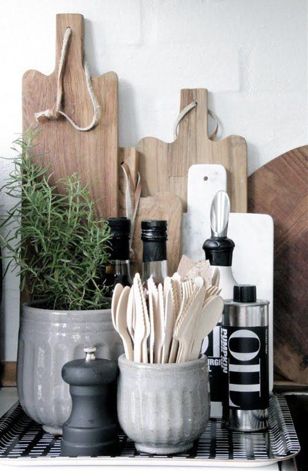 houten bestek keuken