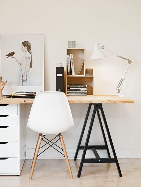 houten blad bureau