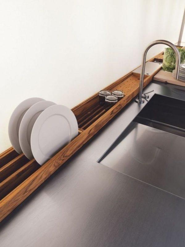 houten druiprek keuken