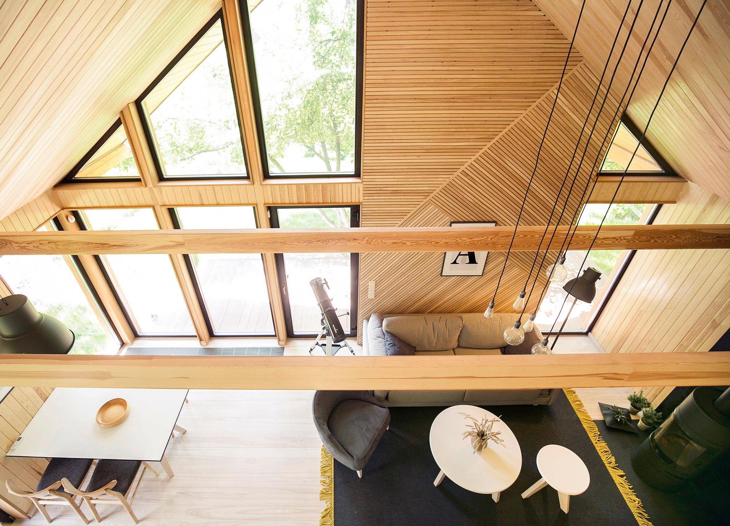 Een scandinavisch houten huisje in minsk thestylebox - Interieur houten huisje ...