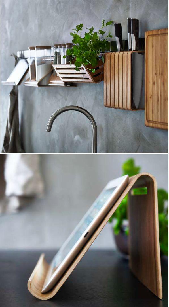 Houten accessoires keuken thestylebox for Keuken ontwerpen op ipad
