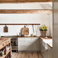 houten keukenwerkblad landelijke keuken