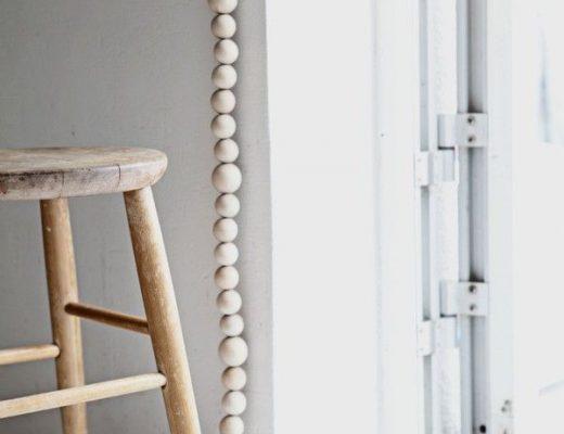houten kralenketting