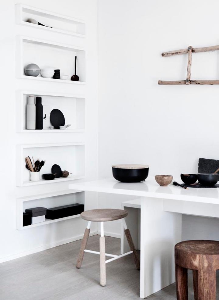 Houten Keuken Accessoires : Black and White Wood