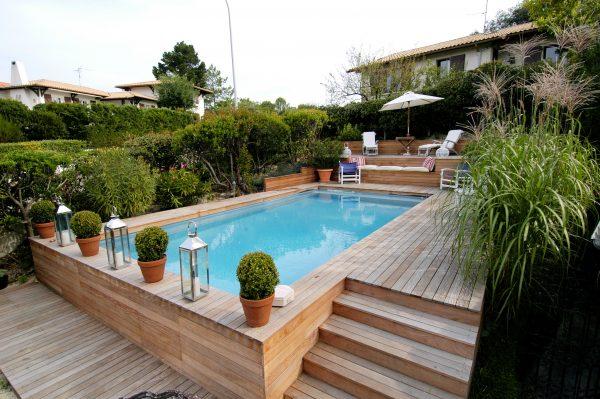 houten zwembad tuin