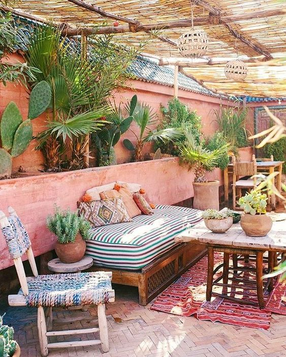 Ibiza tuin ideeën bohemian