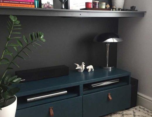 IKEA hack Besta tv meubel kalkverf