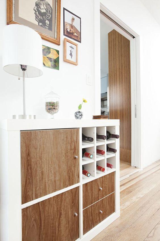 IKEA Kallax wijnkast